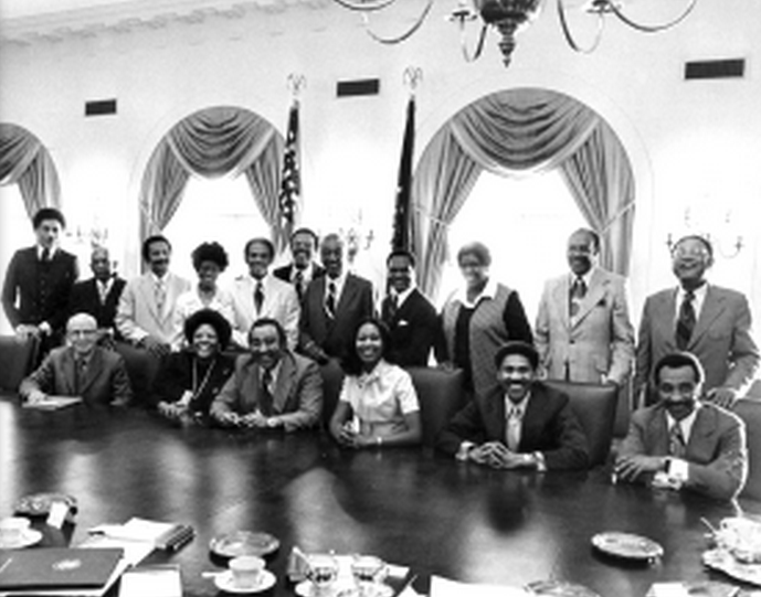 Congressional Black Caucus meets with President Ford.  Courtesy of history.house.gov