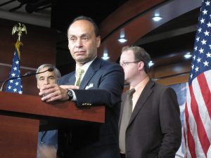 Rep. Luis Gutierrez (D-Ill.) speaks on immigration reform. Photo courtesy of Talk Radio News Service/Flickr.