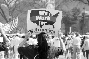 An immigration rally in D.C.  Photo courtesy of Anuska Sampedro/Flickr.