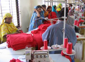 Garment workers in a factory in Bangladesh. Photo courtesy of Jankie/Flickr.