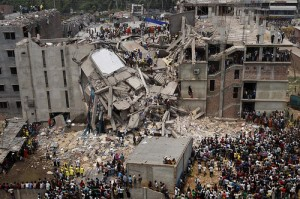 Dhaka Savar building collapse in Rana Plaza. Photo courtesy of Rijans/Flickr.