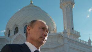 Vladamir Putin in front of a mosque © RIA Novosti. Sergey Guneev