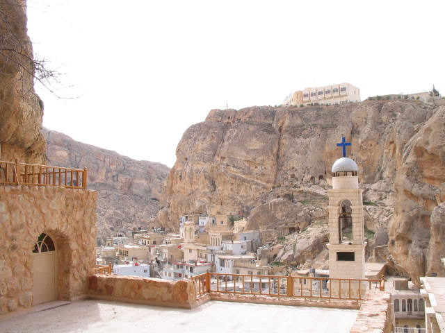 Monastery in Maaloula, Syria. Courtesy of HappyTellus/Flikr