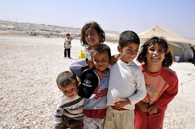 Children at the Zaatari Refuge camp. Photo courtesy of Foreign Commonwealth Office/Flikr