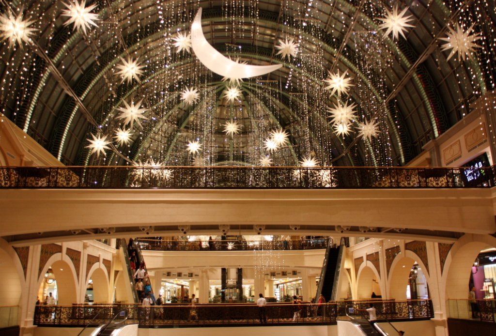 Mall of Emirates Ramadan decorations.  Arabiczeal.com