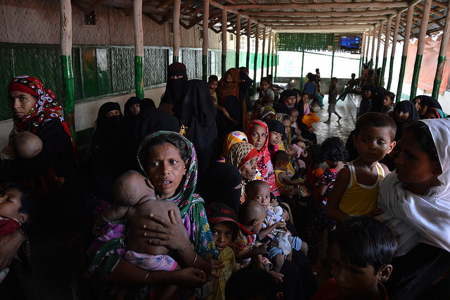Rohingya in Bangladesh, where most of the refugees are not registered and have no rights at all. >Photo credit: EU/ECHO/Pierre Prakash/Flickr