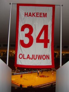 Hakeem Olajuwon's retired number