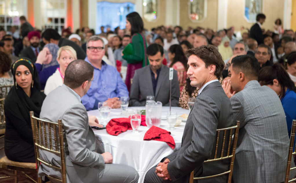Justin attends the Liberal Party of Canada's Eid dinner in Mississauga. August 11, 2014. Photo on Justin Trudeau Flikr page