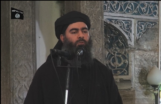 Abu Bakr al-Baghdadi made his first public appearance in Mosul.YouTube screenshot