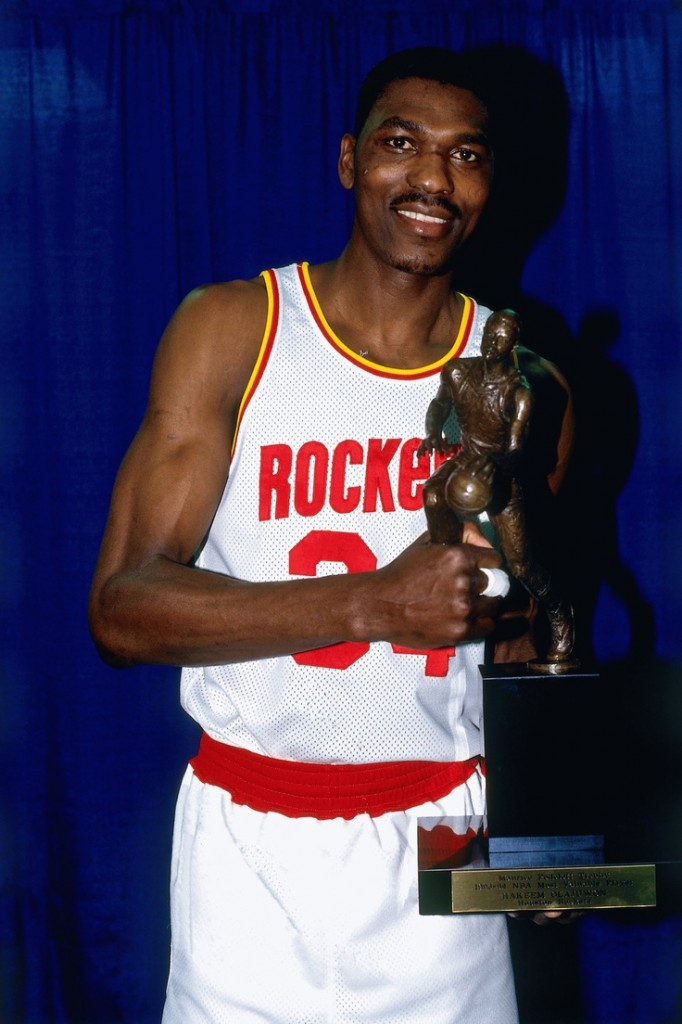 Hakeem Olajuwon after winning the 1993-1994 NBA MVP. photo:nba.com