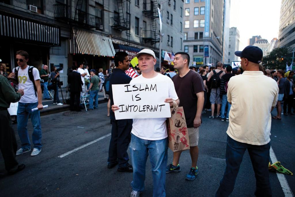 9/11 Ground Zero mosque protest. September 11, 2010. Dan Nguyen/Flikr