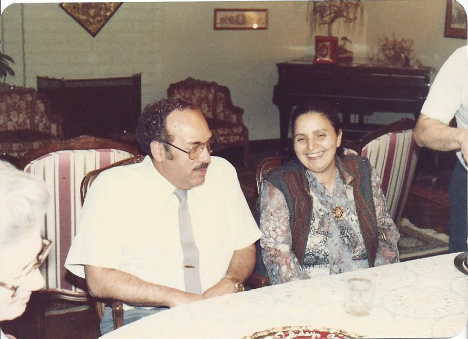 Dr. Hathout and his wife and Dr. Ragaa