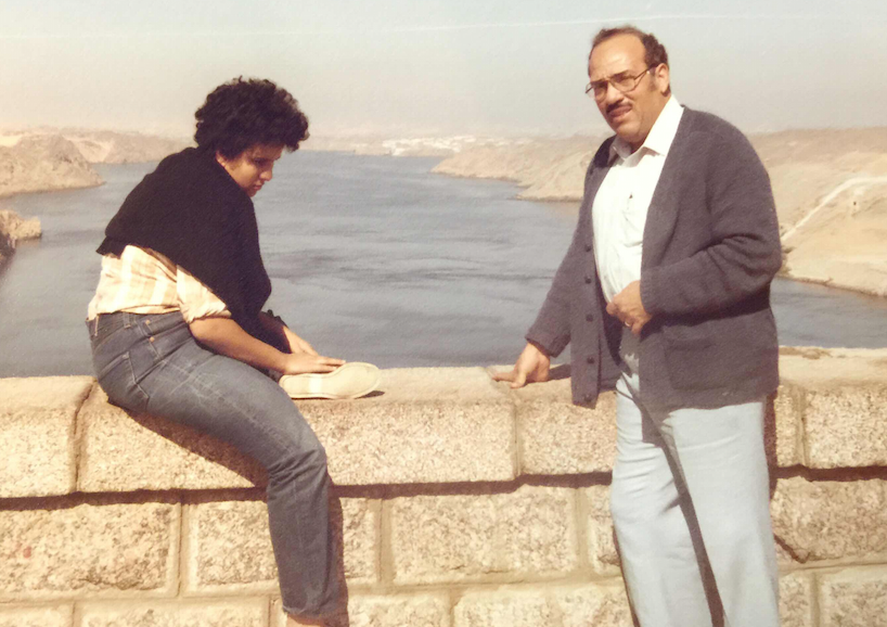 Samer Hathout and her father, in the mid-1980s