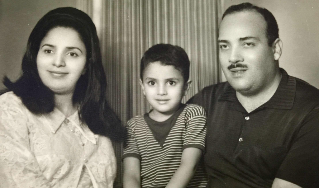 Formative years - Dr. Maher and Dr. Ragaa with their son, Gasser, in Cairo, Egypt (circa 1967)