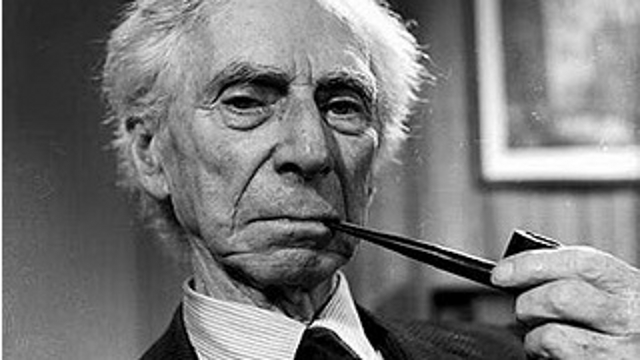 Bertrand Russell. Photo from The Bertrand Russell Society
