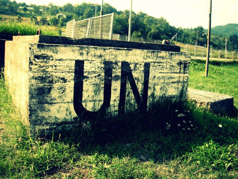 The former entrance of the U.N. Dutch Battalion base.