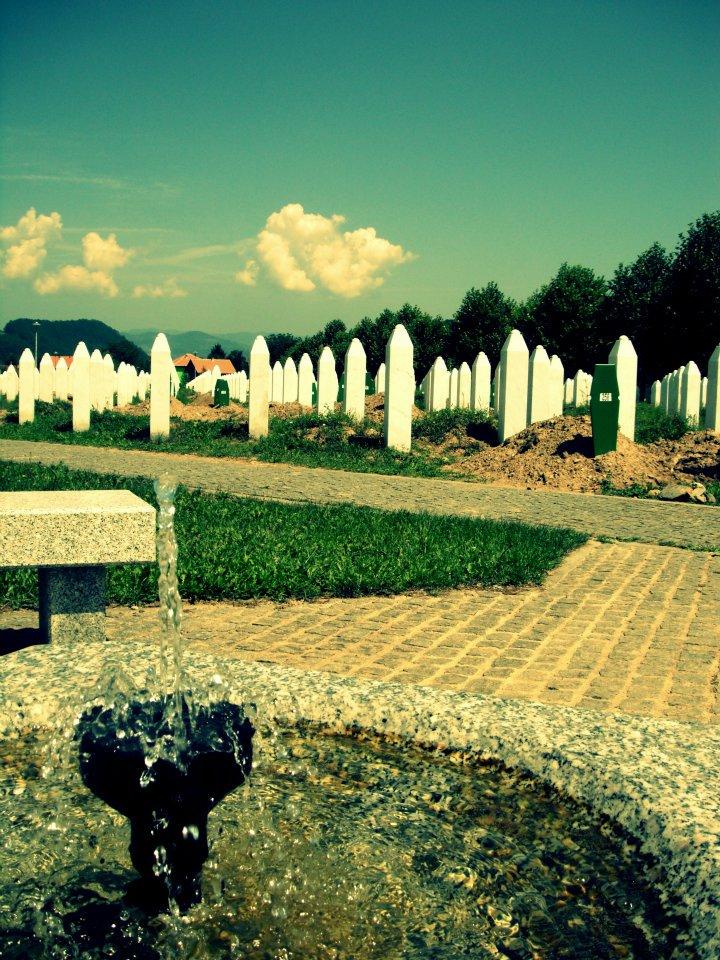 A view of the Srebrenia-Potočari Memorial and Cemetery to Genocide Victims.
