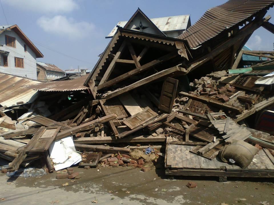 Collapsed House Umar Bhat Srinagar 9.2014