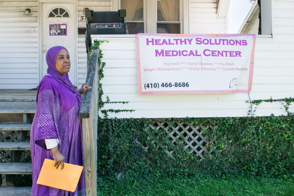 Hanif first founded the Healthy Solutions clinic with her first paychecks doing physicals. She later moved it into the shelter she opened.