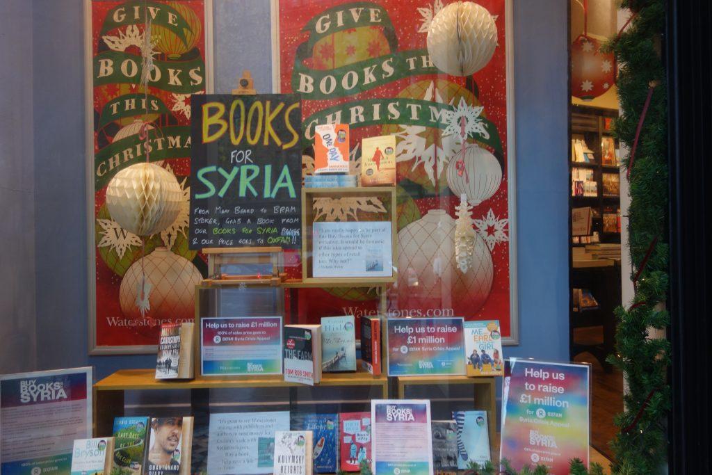 A bookshop display in Trafalgar Square, London. >Christopher Jackson