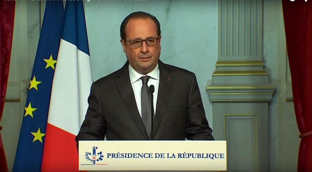 French President Francois Hollande >YouTube/Sky News