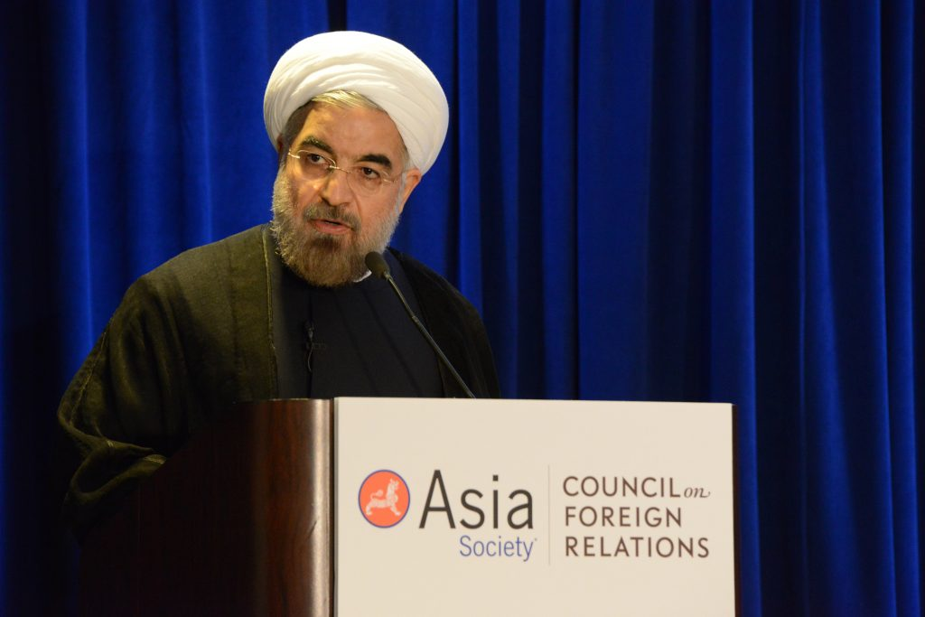 Hassan Rouhani in 2013. >Asia Society/Flickr