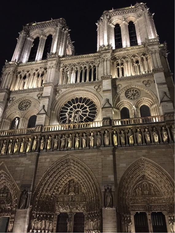 The pointed arches of the Notre Dame in Paris, were inspired by Islamic architecture, according to some scholars. >Rebecca Jackson