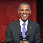 1:05 PM: President Barack Obama delivers remarks at his first visit to an American mosque.