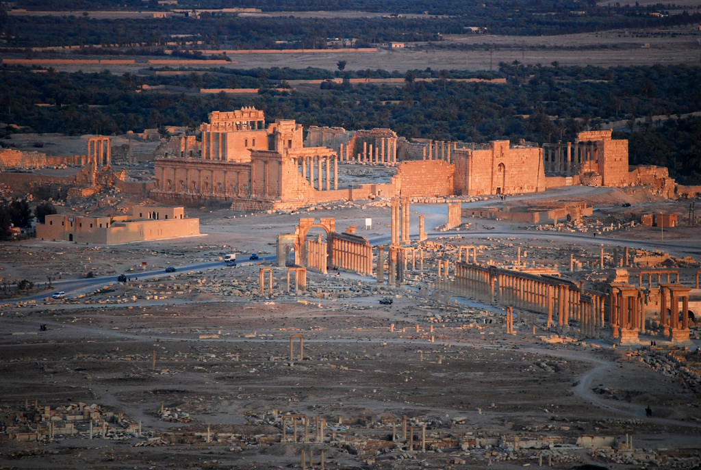 The ancient city of Palmyra,
