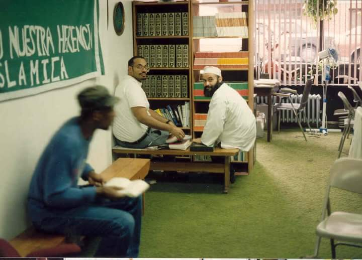 The author on the left and the late Muhammad Mendez on the right at the 1717 Lexington Avenue storefront.
