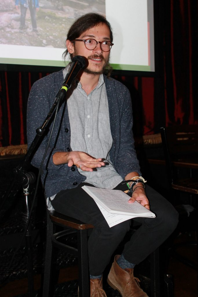 Rob presenting at Busboys and Poets.