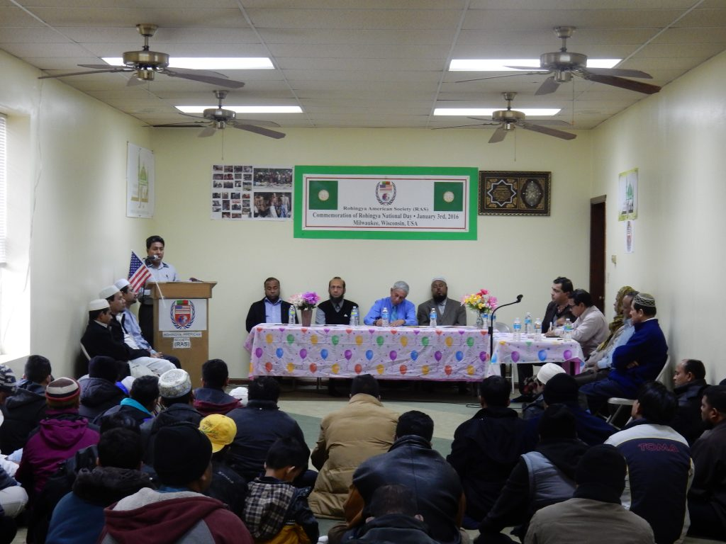 Shaukhat/Jilani at a January 3 celebration event at the Rohingya American Society in Milwaukee.