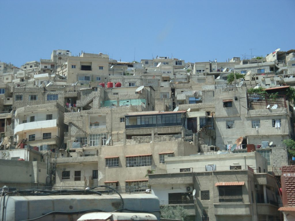 A Palestinian refugee camp outside Damascus. >Flickr/Michael-Ann Cerniglia