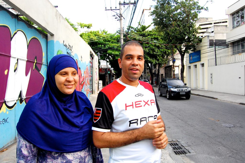 Fernando Celina and his wife Petra Duarte in Rio's Tijuca neighborhood, home of the Luz Mosque.