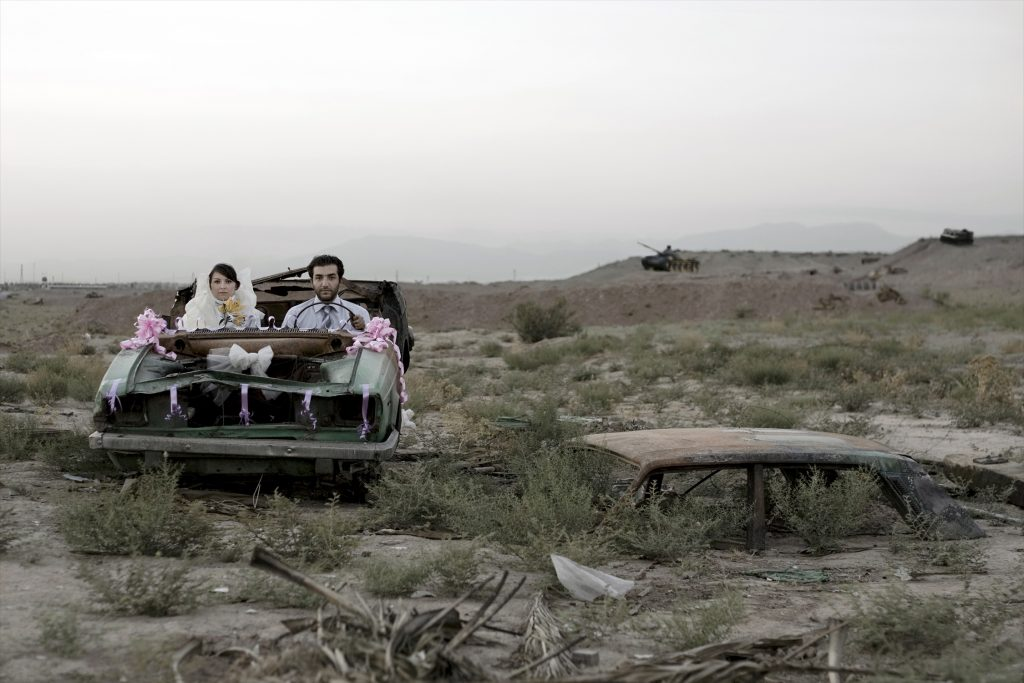 "Gohar Dashti, Untitled #5, from the series ""Today's Life and War,"" 2008, Chromogenic print, 27 5/8 x 41 3/8 in.; Courtesy of the artist, Azita Bina, and Robert Klein Gallery, Boston; © Gohar Dashti"