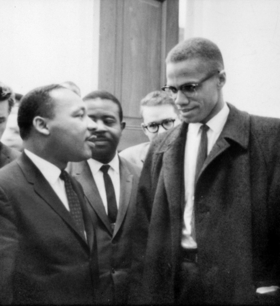 Martin Luther King Jr. and Malcolm X >Wikimedia Commons/Marion S. Trikosko