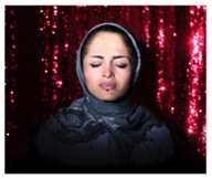 """Newsha Tavakolian, Maral Afsharian, from the series """"Listen,"""" 2010; Pigment print, 23 5/8 x 31 1/2 in.; Courtesy of the artist and East Wing Contemporary Gallery"""