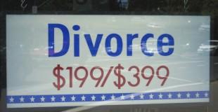Photo Credit:  Banjo D on Flickr Photo Caption: An advertisement for divorce services Flickr Link: https://flic.kr/p/eDGay
