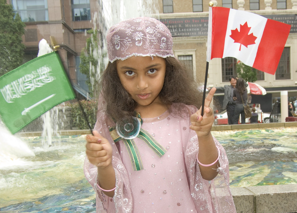 A girl at the Canadian Islamic Cultural Expo in 2007. >Flickr/Shazron